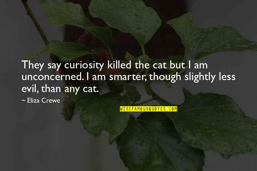 Curiosity And Cat Quotes By Eliza Crewe: They say curiosity killed the cat but I