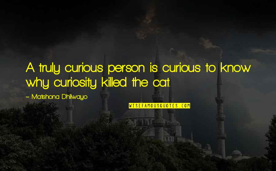 Curiosity And Cat Quotes By Matshona Dhliwayo: A truly curious person is curious to know