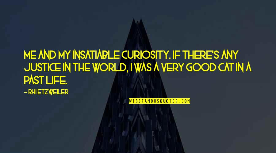 Curiosity And Cat Quotes By Rhi Etzweiler: Me and my insatiable curiosity. If there's any