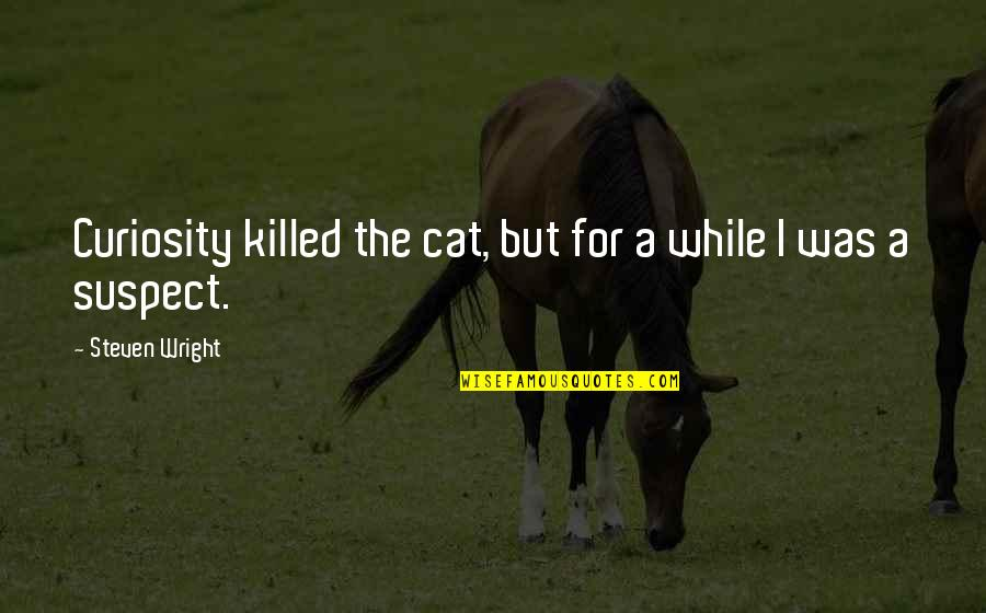 Curiosity And Cat Quotes By Steven Wright: Curiosity killed the cat, but for a while
