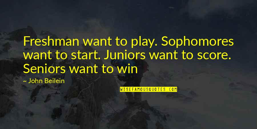 Curley's Wife Movie Star Quotes By John Beilein: Freshman want to play. Sophomores want to start.