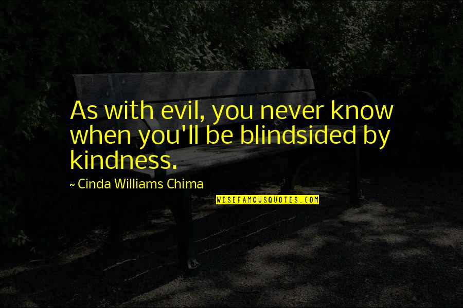 Current Popular Quotes By Cinda Williams Chima: As with evil, you never know when you'll