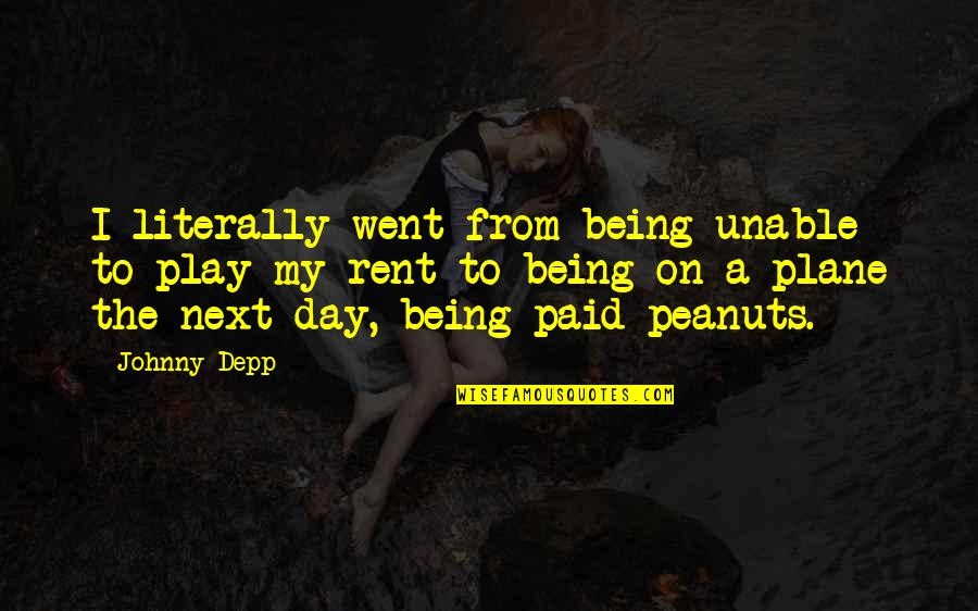 Curricle Quotes By Johnny Depp: I literally went from being unable to play