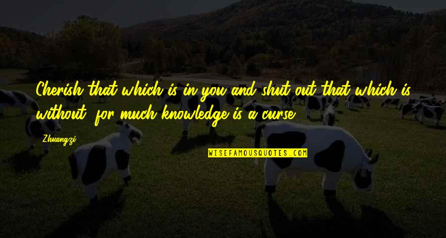 Curse Of Knowledge Quotes By Zhuangzi: Cherish that which is in you and shut