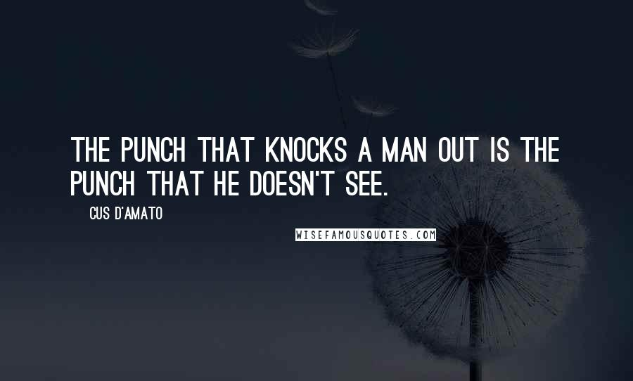 Cus D'Amato quotes: The punch that knocks a man out is the punch that he doesn't see.