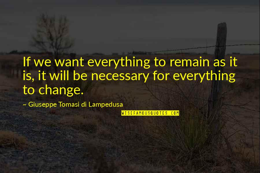 Custom Vinyl Wall Art Quotes By Giuseppe Tomasi Di Lampedusa: If we want everything to remain as it