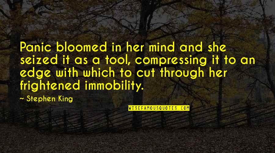 Cut Her Off Quotes By Stephen King: Panic bloomed in her mind and she seized