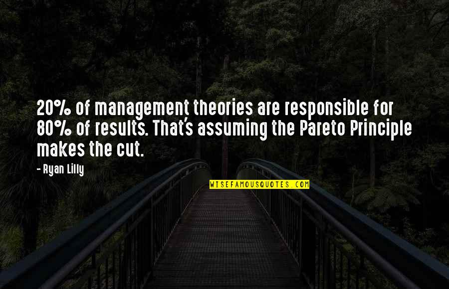 Cut Off Time Quotes By Ryan Lilly: 20% of management theories are responsible for 80%
