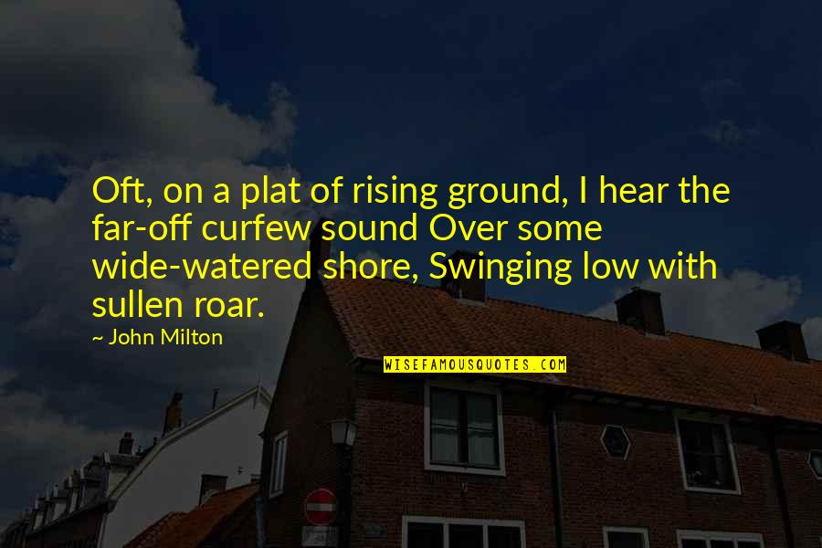 Cute Festive Quotes By John Milton: Oft, on a plat of rising ground, I