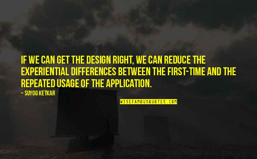 Cute Pun Quotes By Suyog Ketkar: If we can get the design right, we