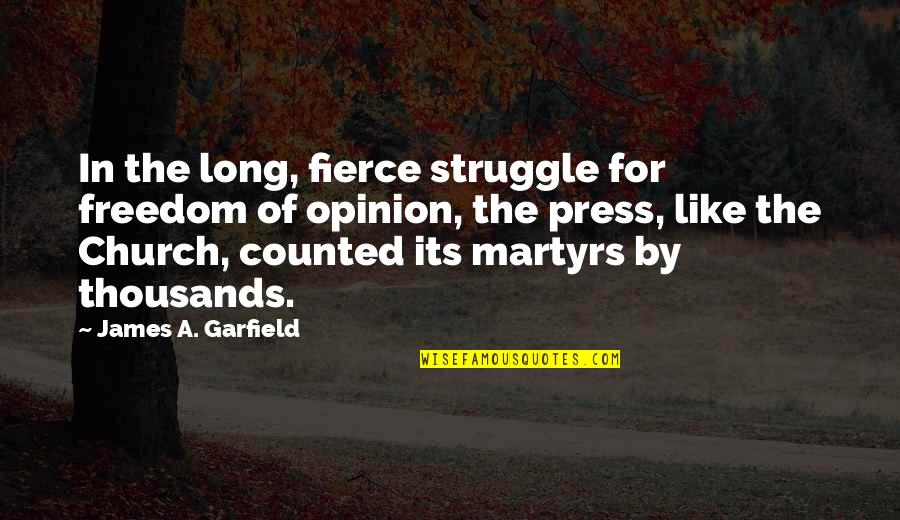 Cute Tortoise Quotes By James A. Garfield: In the long, fierce struggle for freedom of