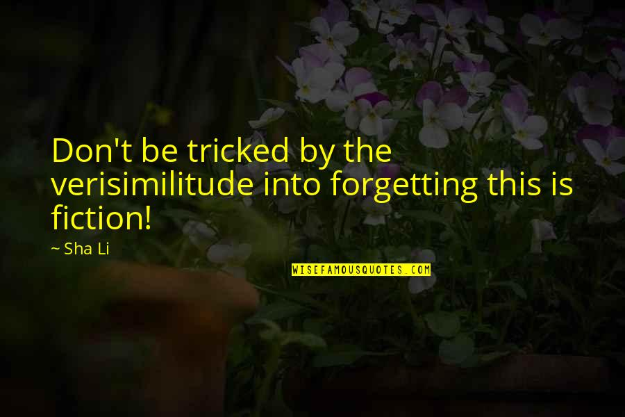 Cyber Quotes By Sha Li: Don't be tricked by the verisimilitude into forgetting