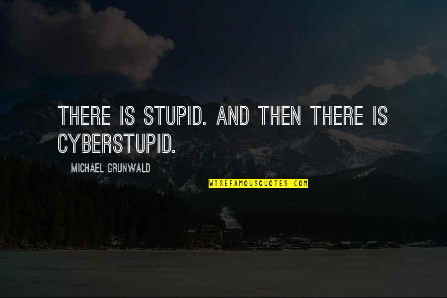 Cyberstupid Quotes By Michael Grunwald: There is stupid. And then there is cyberstupid.
