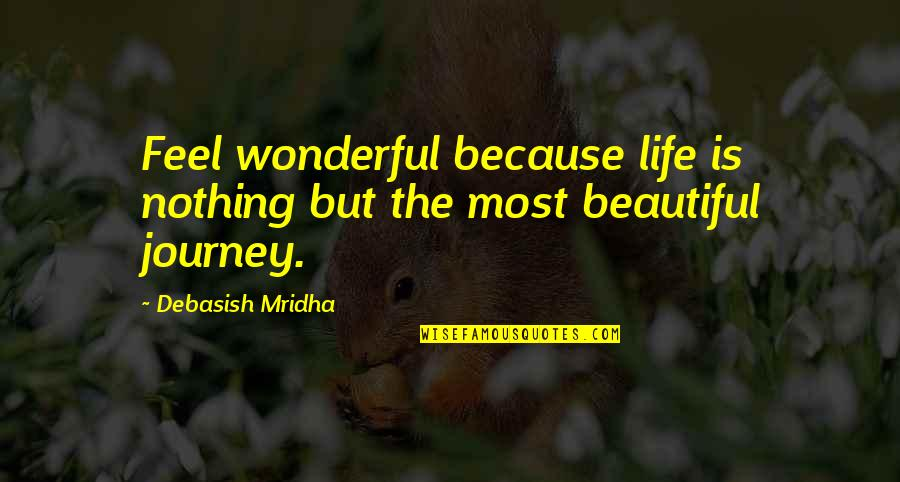 D.a.m.a Quotes By Debasish Mridha: Feel wonderful because life is nothing but the
