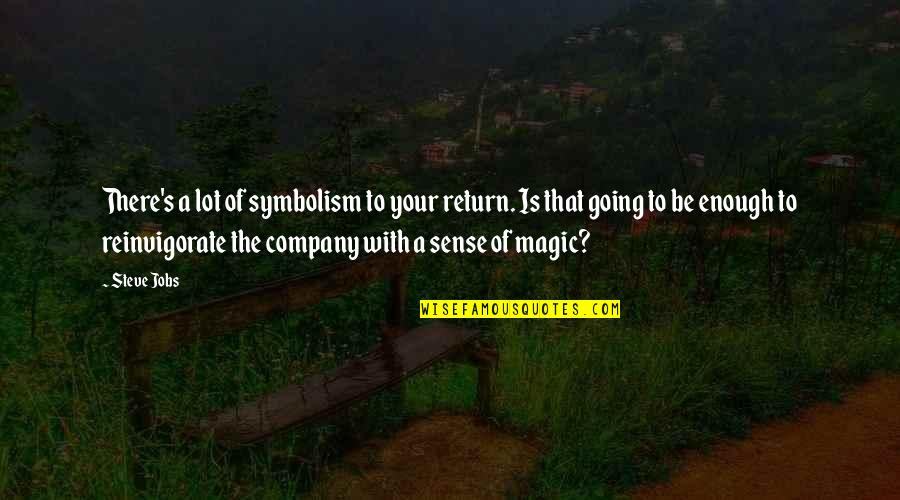 D Alembert Quotes By Steve Jobs: There's a lot of symbolism to your return.