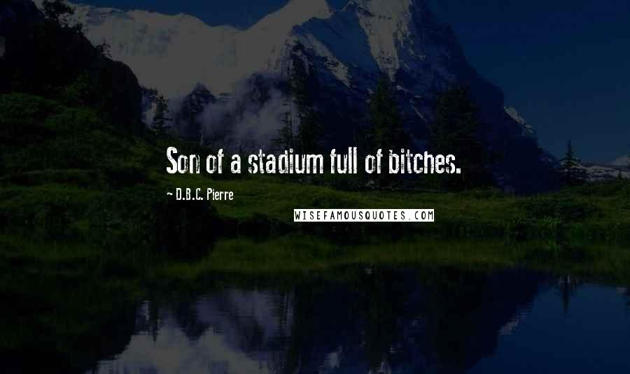 D.B.C. Pierre quotes: Son of a stadium full of bitches.