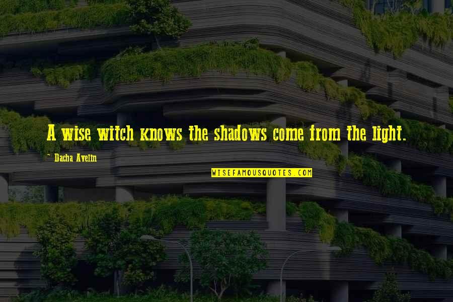 Dacha Quotes By Dacha Avelin: A wise witch knows the shadows come from