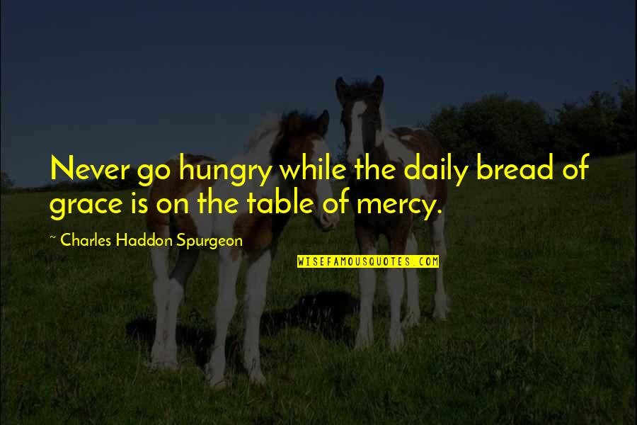 Daily Bread Quotes By Charles Haddon Spurgeon: Never go hungry while the daily bread of