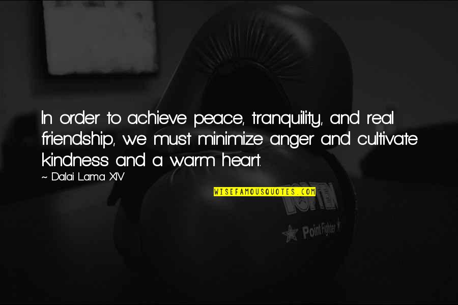 Dalai Lama Xiv Quotes By Dalai Lama XIV: In order to achieve peace, tranquility, and real