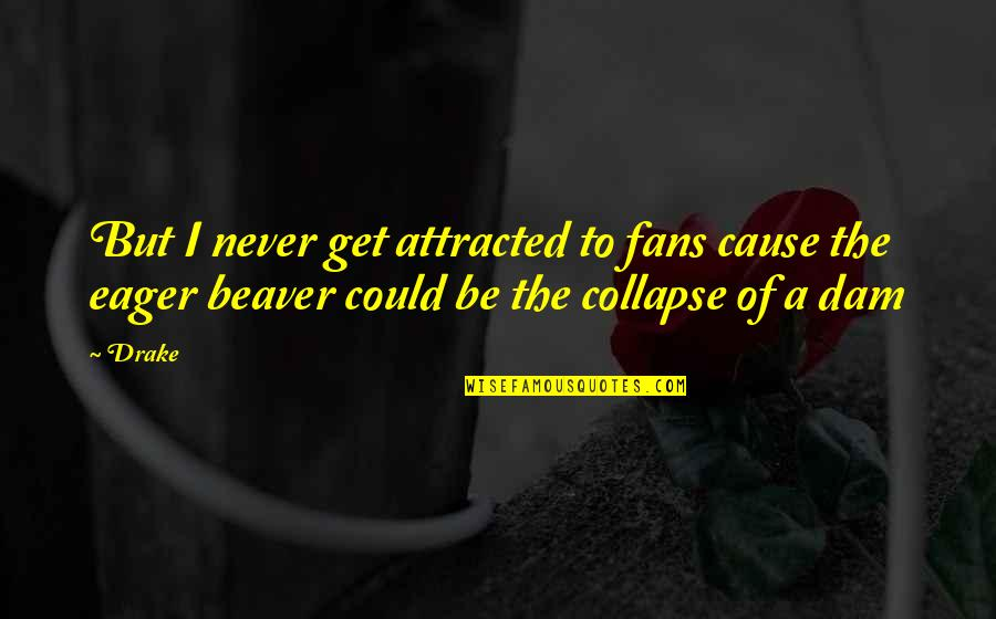 Dam Quotes By Drake: But I never get attracted to fans cause