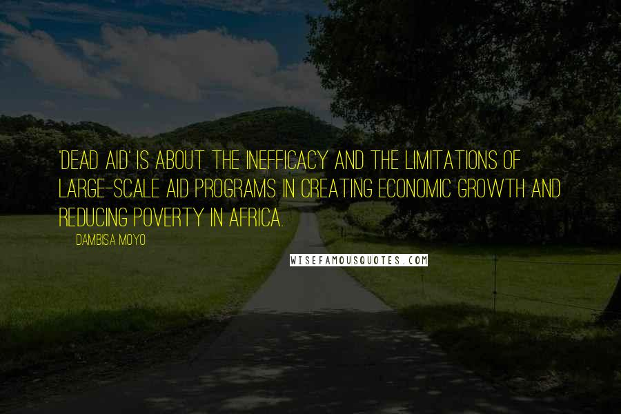 Dambisa Moyo quotes: 'Dead Aid' is about the inefficacy and the limitations of large-scale aid programs in creating economic growth and reducing poverty in Africa.
