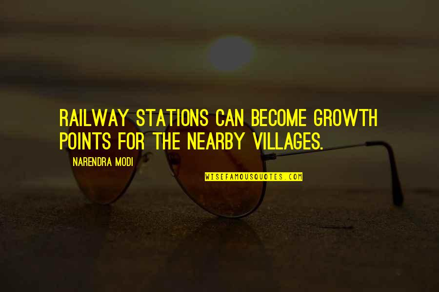 Damu Quotes By Narendra Modi: Railway stations can become growth points for the