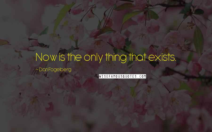 Dan Fogelberg quotes: Now is the only thing that exists.