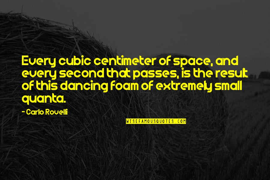 Dancing And Quotes By Carlo Rovelli: Every cubic centimeter of space, and every second