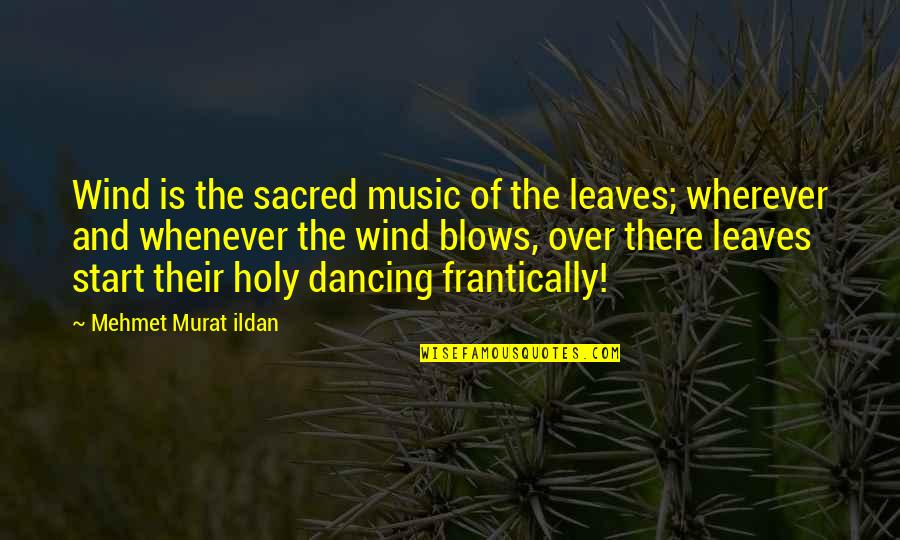 Dancing And Quotes By Mehmet Murat Ildan: Wind is the sacred music of the leaves;