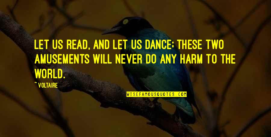 Dancing And Quotes By Voltaire: Let us read, and let us dance; these