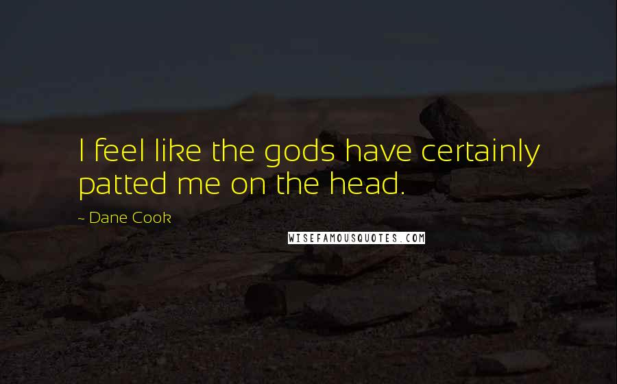 Dane Cook quotes: I feel like the gods have certainly patted me on the head.