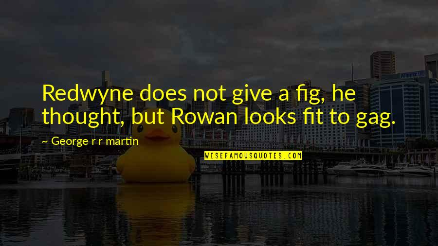 Dang Girl Quotes By George R R Martin: Redwyne does not give a fig, he thought,