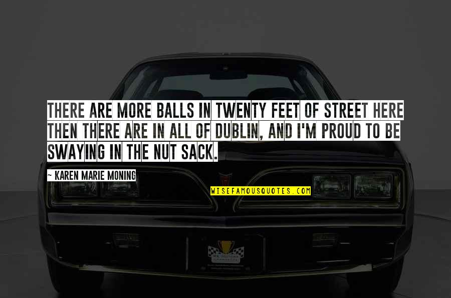 Dani Quotes By Karen Marie Moning: There are more balls in twenty feet of