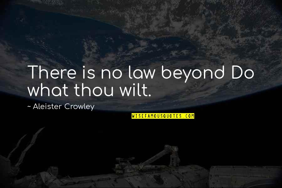 Daniela Gullotta Quotes By Aleister Crowley: There is no law beyond Do what thou