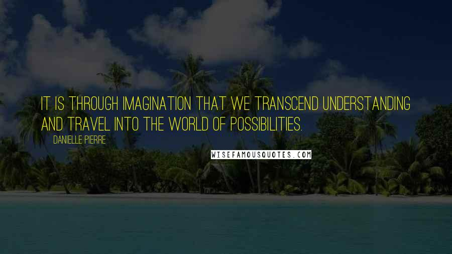 Danielle Pierre quotes: It is through imagination that we transcend understanding and travel into the world of possibilities.