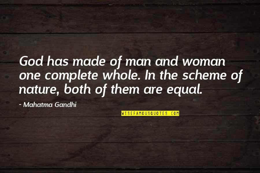 Danno And Mcgarrett Quotes By Mahatma Gandhi: God has made of man and woman one