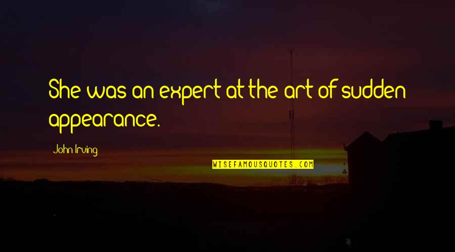 Dante Inferno Beatrice Quotes By John Irving: She was an expert at the art of
