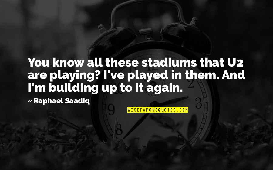 Daredevil Cut Man Quotes By Raphael Saadiq: You know all these stadiums that U2 are