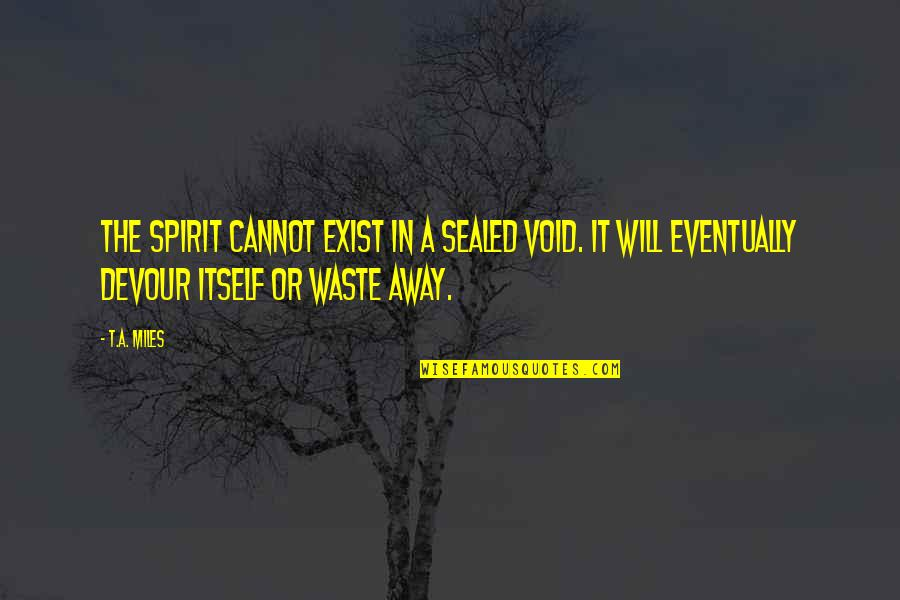 Dark Void Quotes By T.A. Miles: The spirit cannot exist in a sealed void.