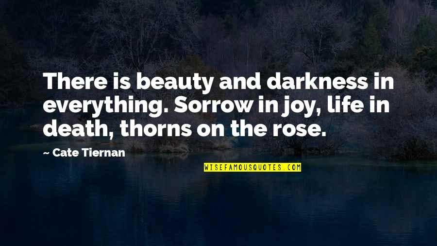 Darkness And Beauty Quotes By Cate Tiernan: There is beauty and darkness in everything. Sorrow