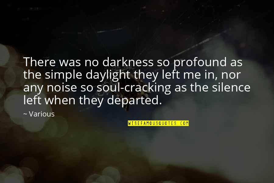 Darkness And Silence Quotes By Various: There was no darkness so profound as the