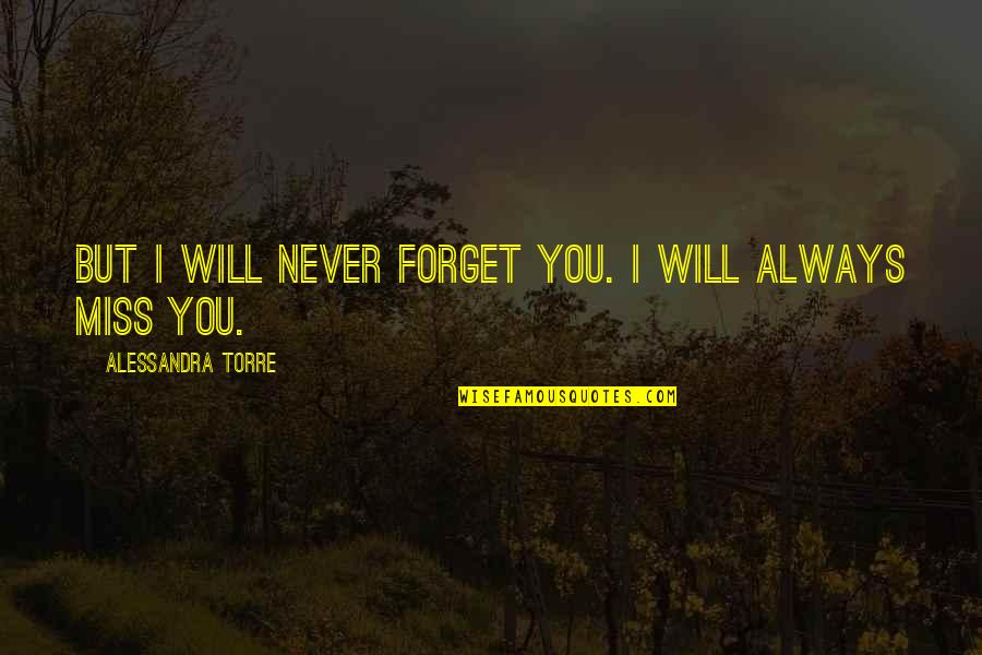 Darning Quotes By Alessandra Torre: But I will never forget you. I will