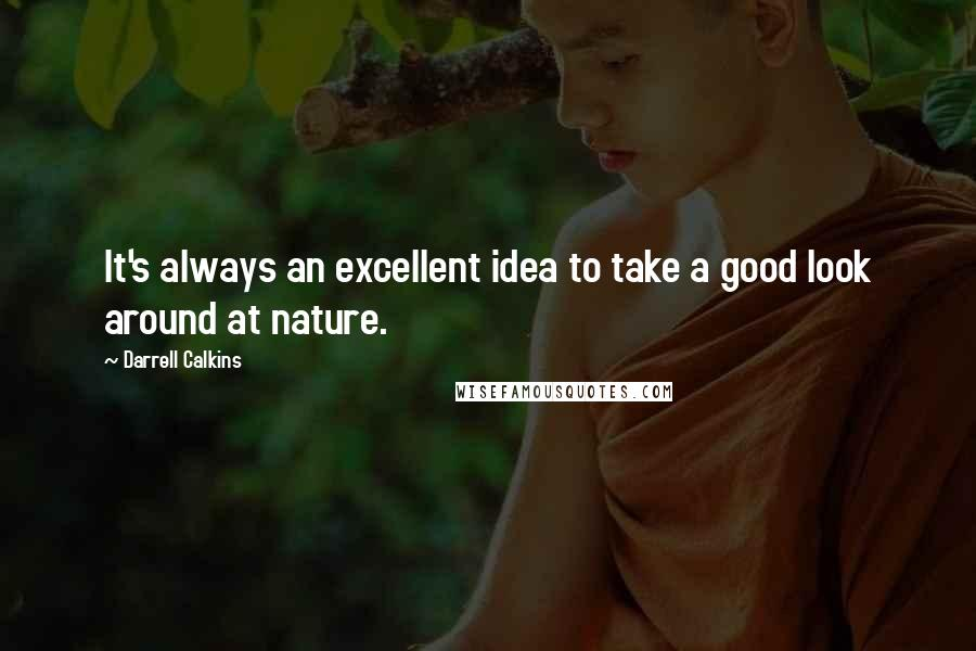 Darrell Calkins quotes: It's always an excellent idea to take a good look around at nature.