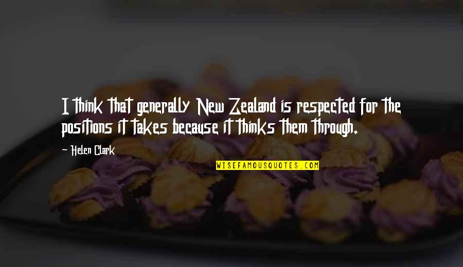 Darryl Strawberry Simpsons Quotes By Helen Clark: I think that generally New Zealand is respected