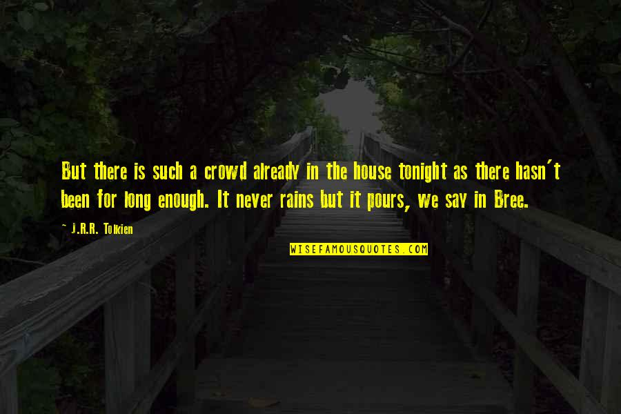 Darshana Quotes By J.R.R. Tolkien: But there is such a crowd already in