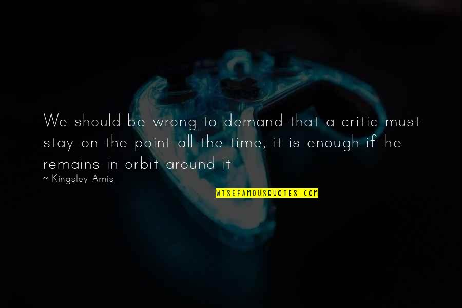 Dasara Wishes Quotes By Kingsley Amis: We should be wrong to demand that a
