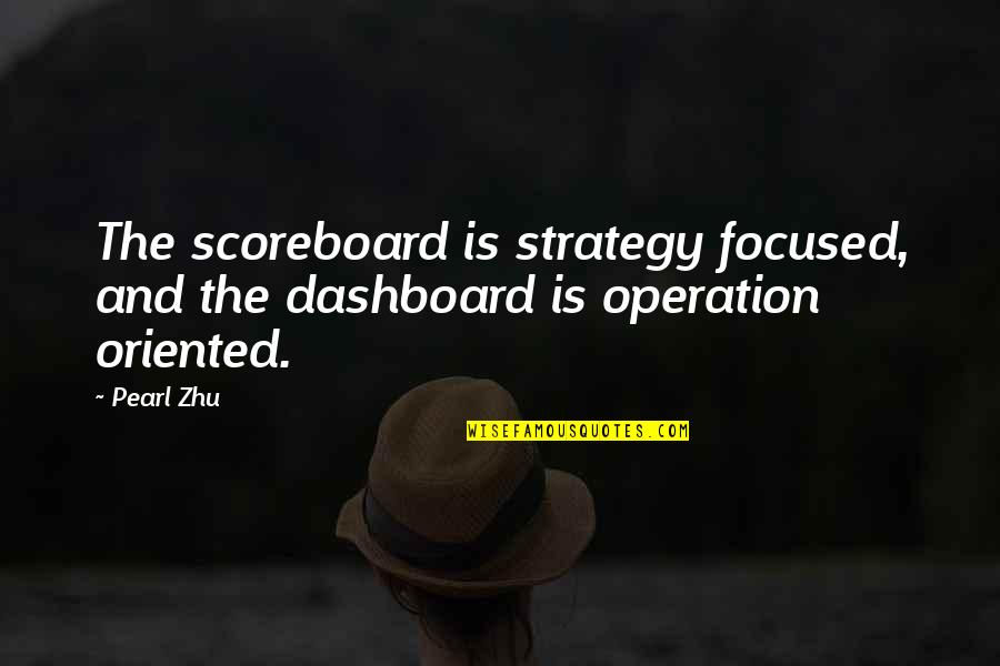 Dashboard Quotes By Pearl Zhu: The scoreboard is strategy focused, and the dashboard