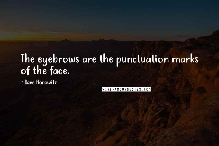 Dave Horowitz quotes: The eyebrows are the punctuation marks of the face.