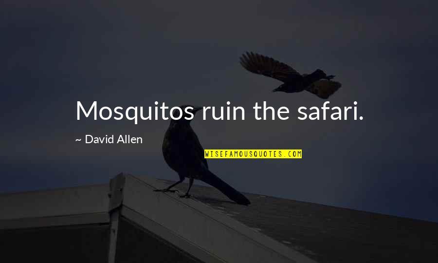 David Allen Quotes By David Allen: Mosquitos ruin the safari.