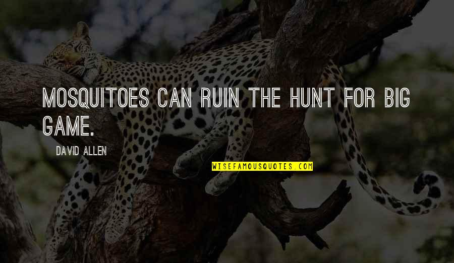 David Allen Quotes By David Allen: Mosquitoes can ruin the hunt for big game.